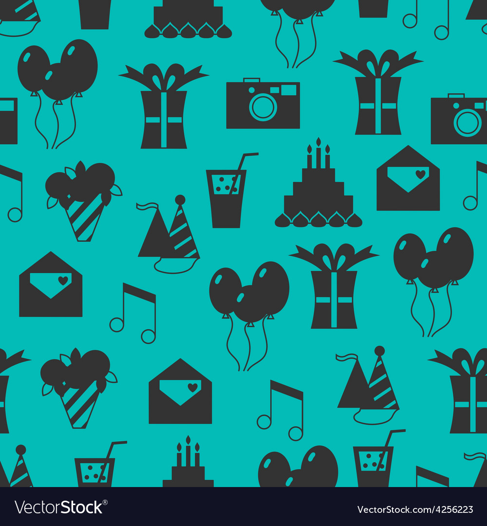 Seamless holiday pattern festive background vector | Price: 1 Credit (USD $1)