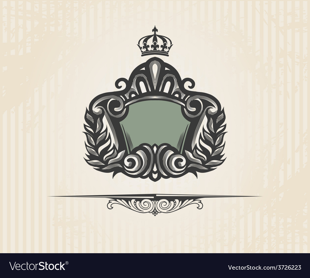 Vintage ornate shield vector | Price: 1 Credit (USD $1)