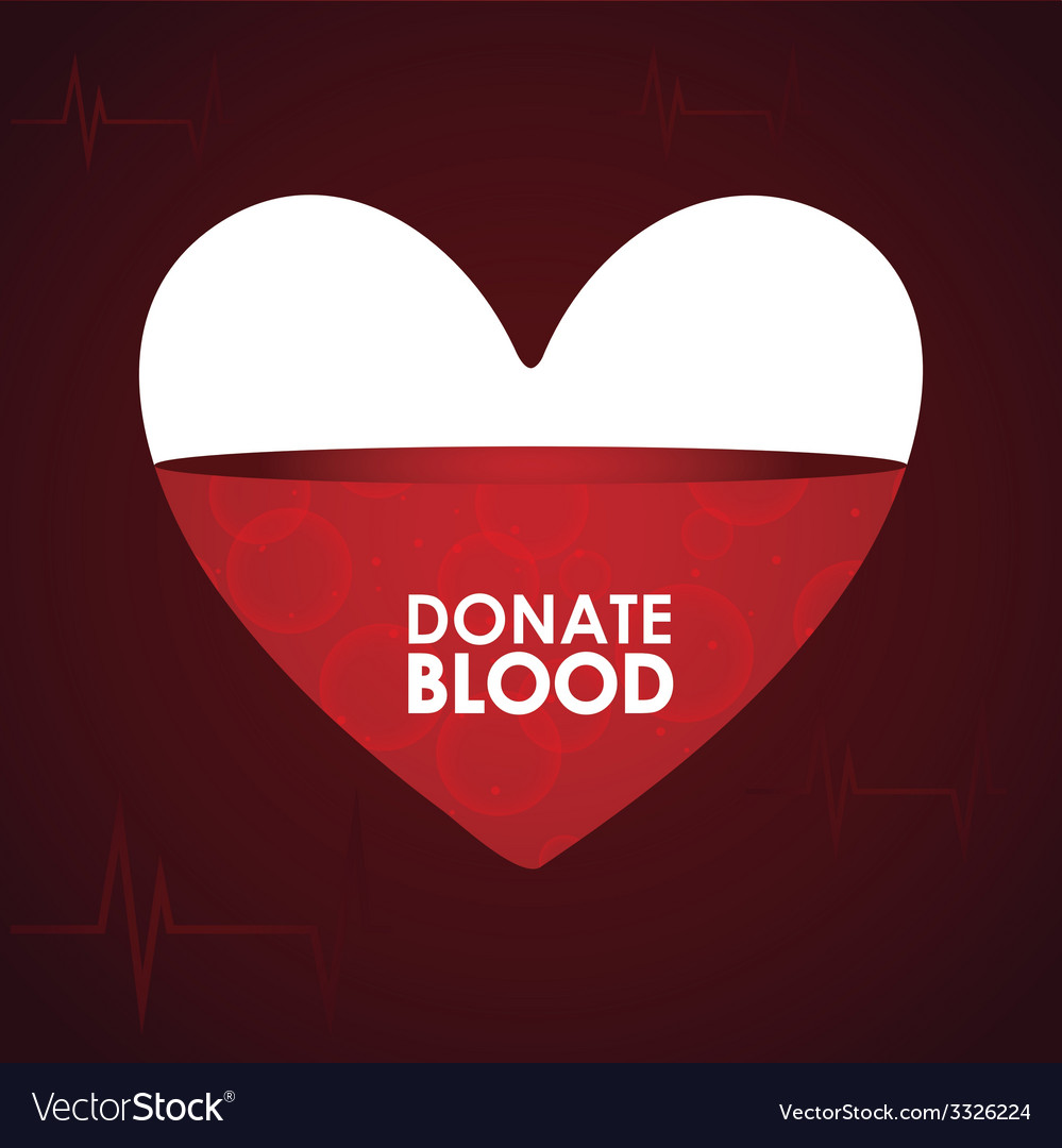 Donate blood design vector   Price: 1 Credit (USD $1)