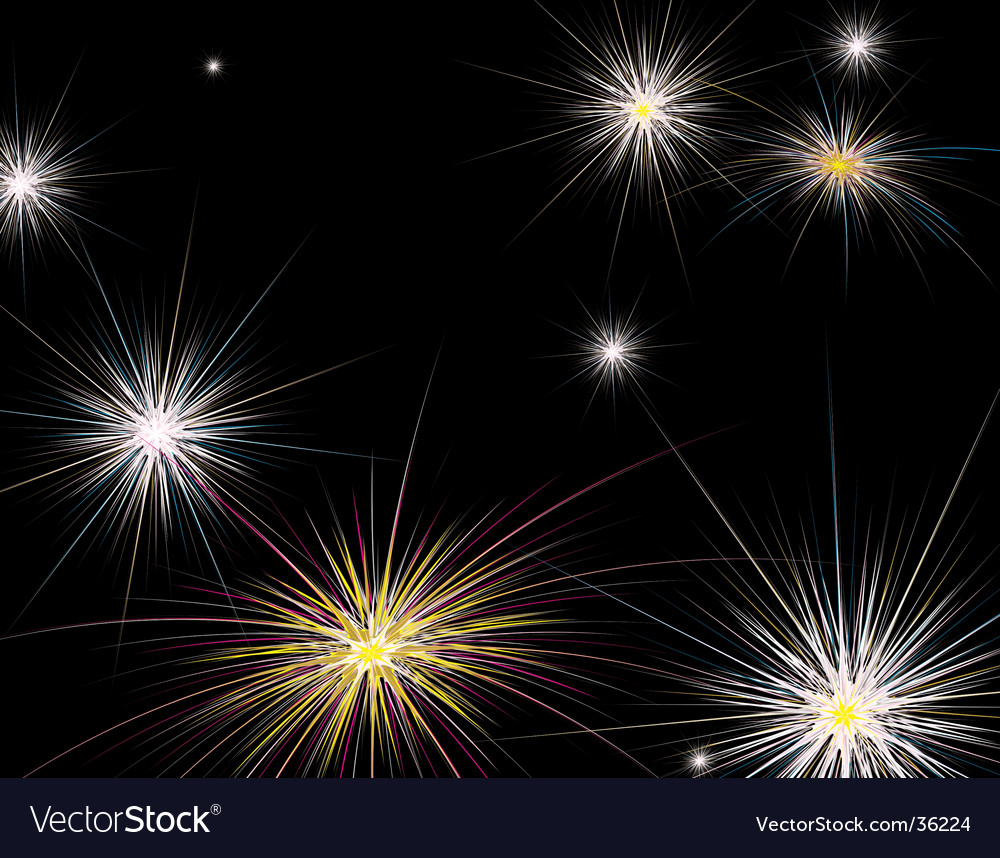 Fireworks new year vector | Price: 1 Credit (USD $1)