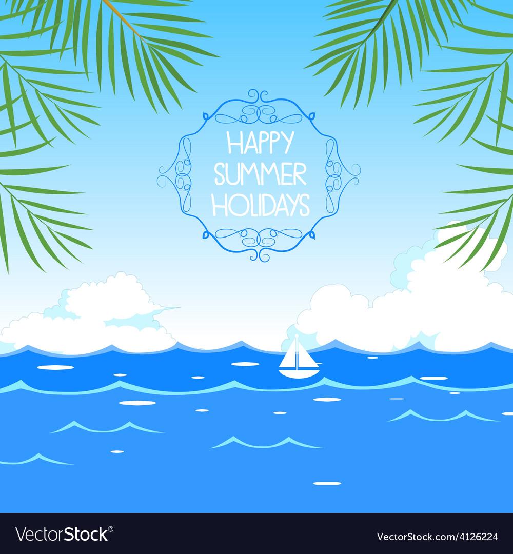 Happy summer holidays vector | Price: 1 Credit (USD $1)