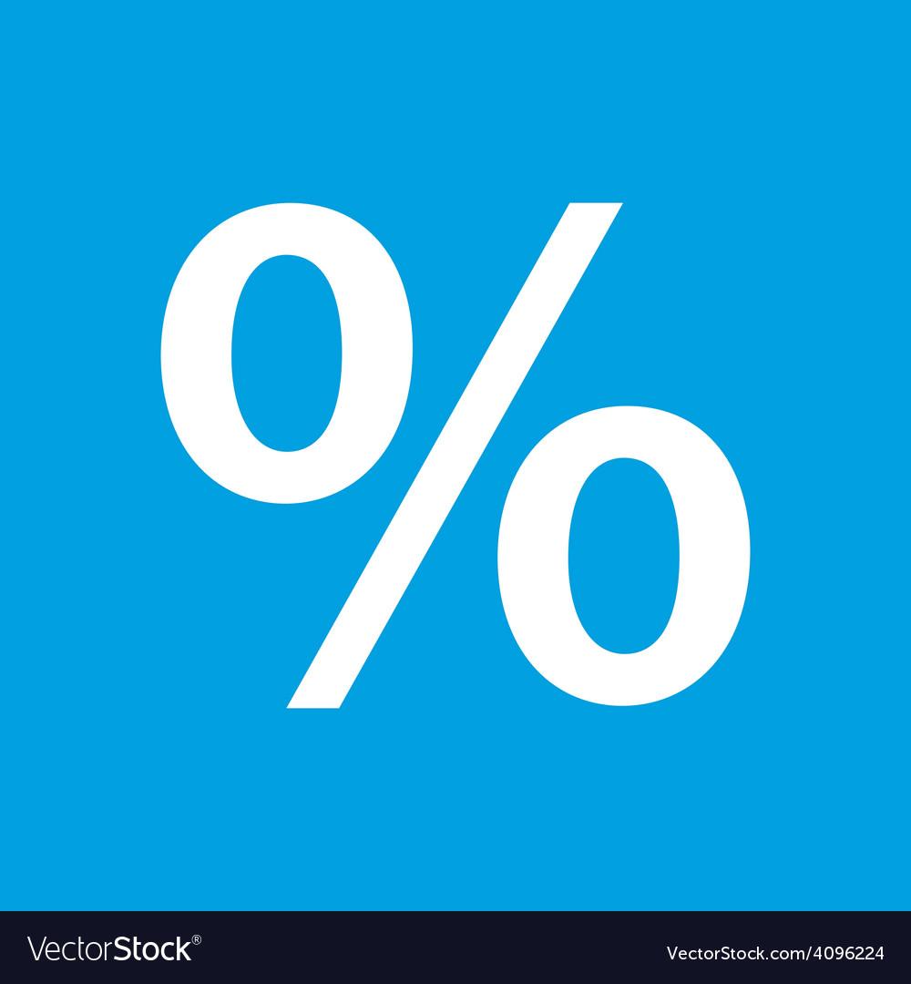 Percent white icon vector | Price: 1 Credit (USD $1)