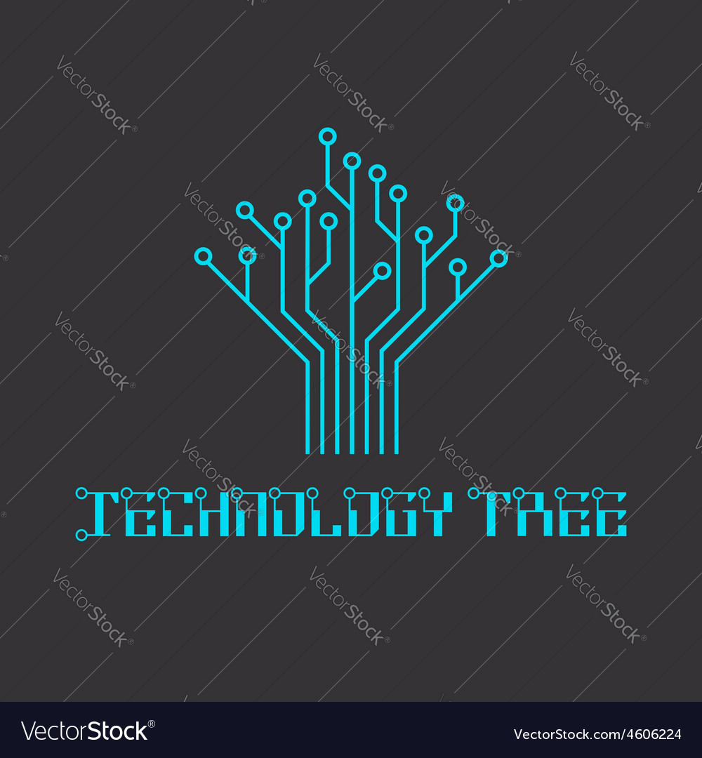 Technology tree of the microcircuit engineering vector | Price: 1 Credit (USD $1)
