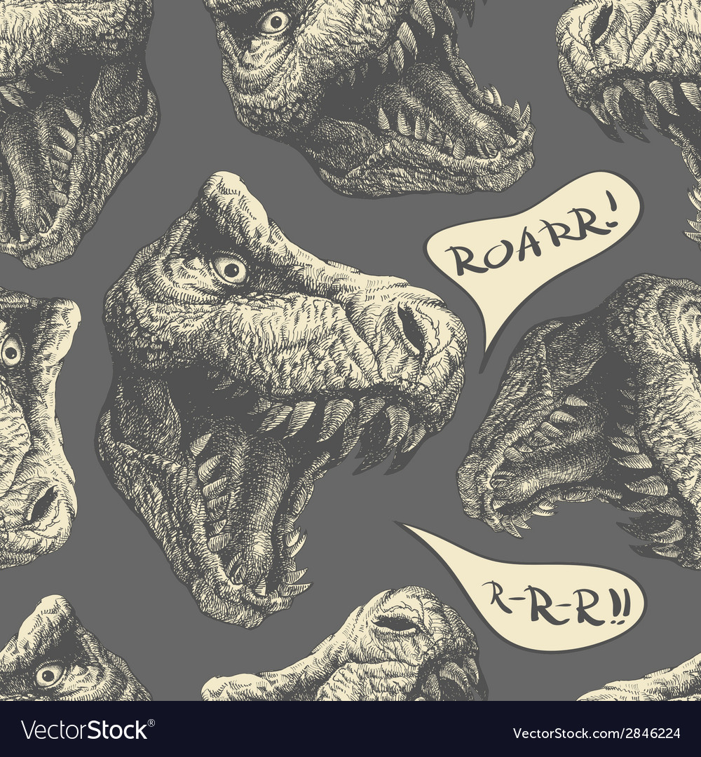 Trex seamless background eps8 vector | Price: 1 Credit (USD $1)