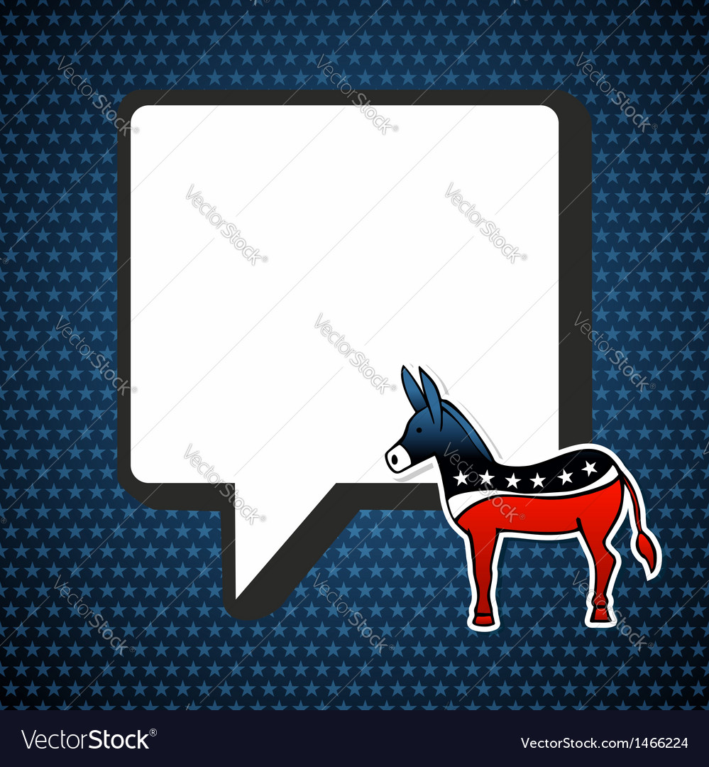 Usa democratic politic message vector | Price: 1 Credit (USD $1)