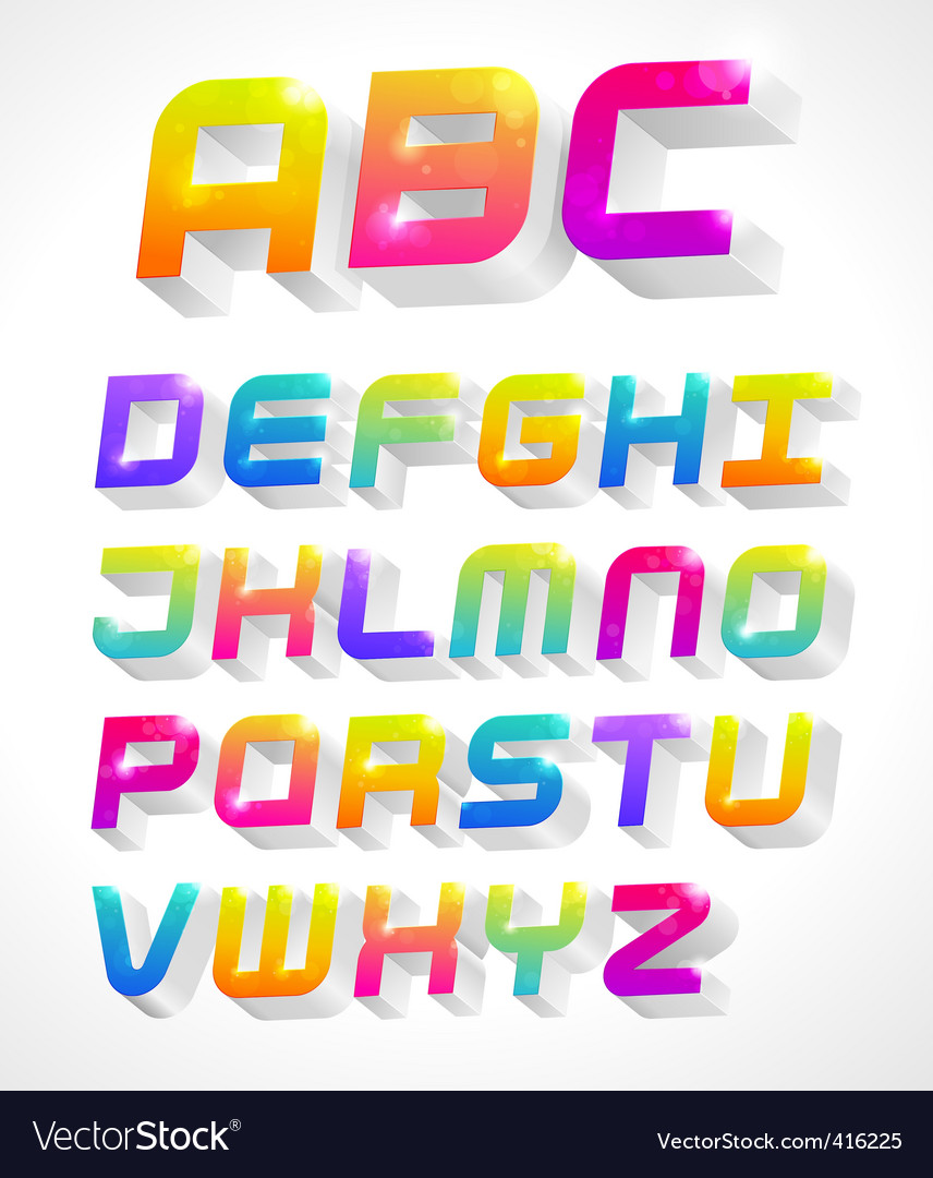3d alphabet vector | Price: 1 Credit (USD $1)