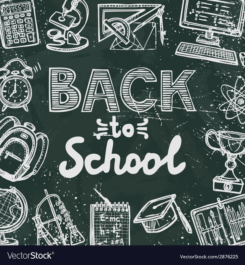 Back to school blackboard poster vector | Price: 1 Credit (USD $1)