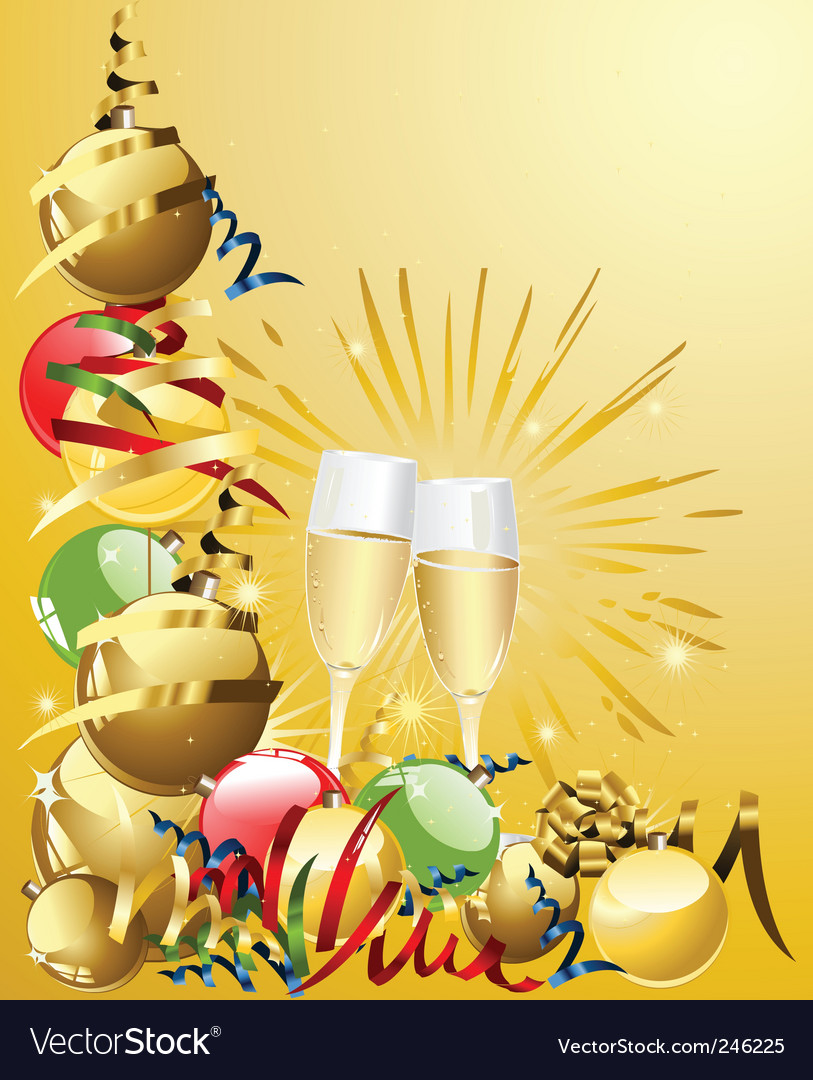 Champagne celebration vector | Price: 1 Credit (USD $1)