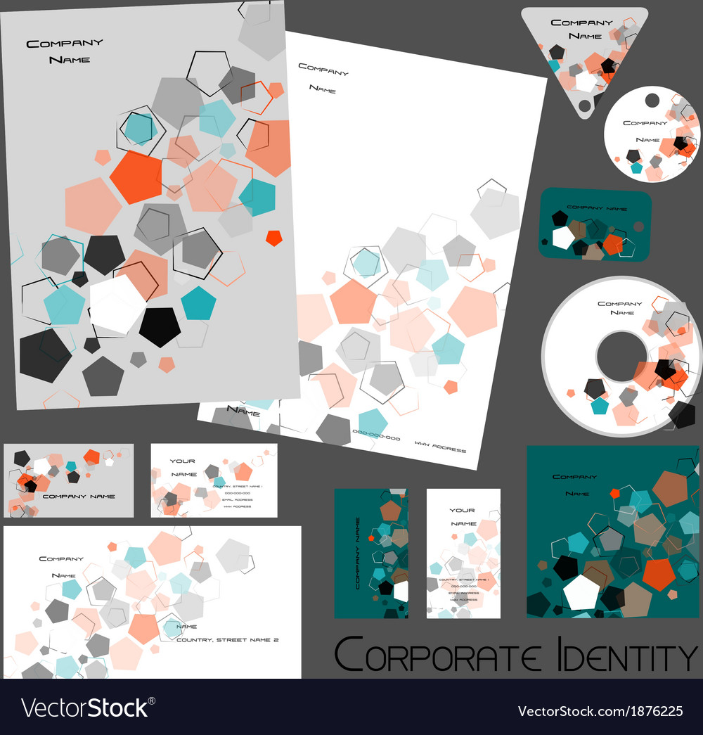 Corporate identity template no 16 2 vector | Price: 1 Credit (USD $1)