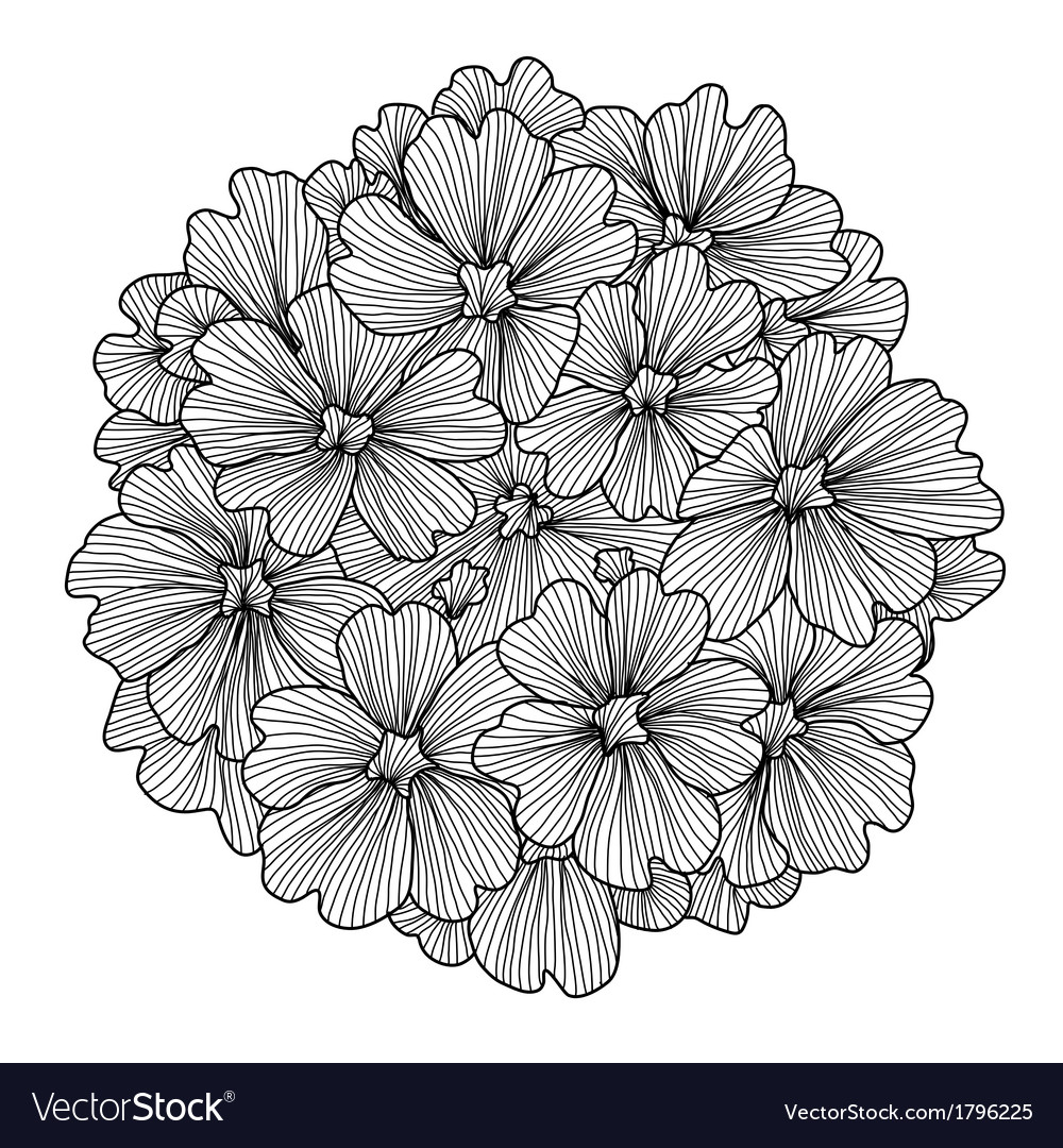Decorative verbena flower vector | Price: 1 Credit (USD $1)