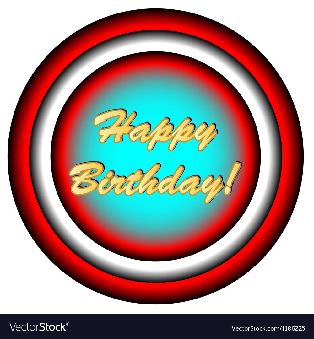 Happy birthday icon vector | Price: 1 Credit (USD $1)