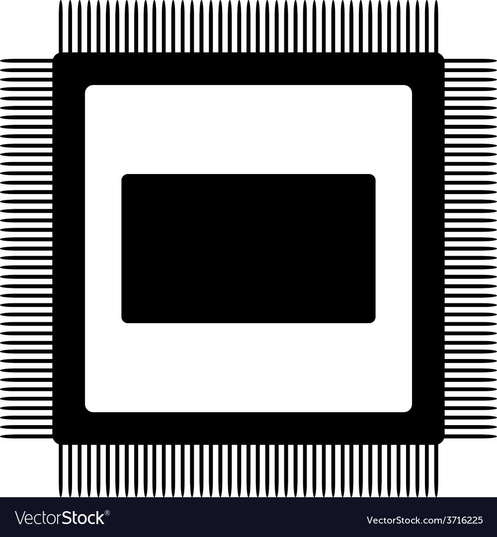 Microchip icon vector | Price: 1 Credit (USD $1)