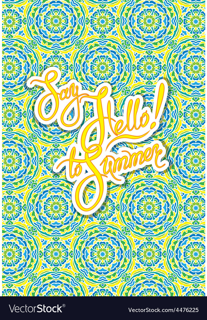 Ornament card summer 1 380 vector   Price: 1 Credit (USD $1)
