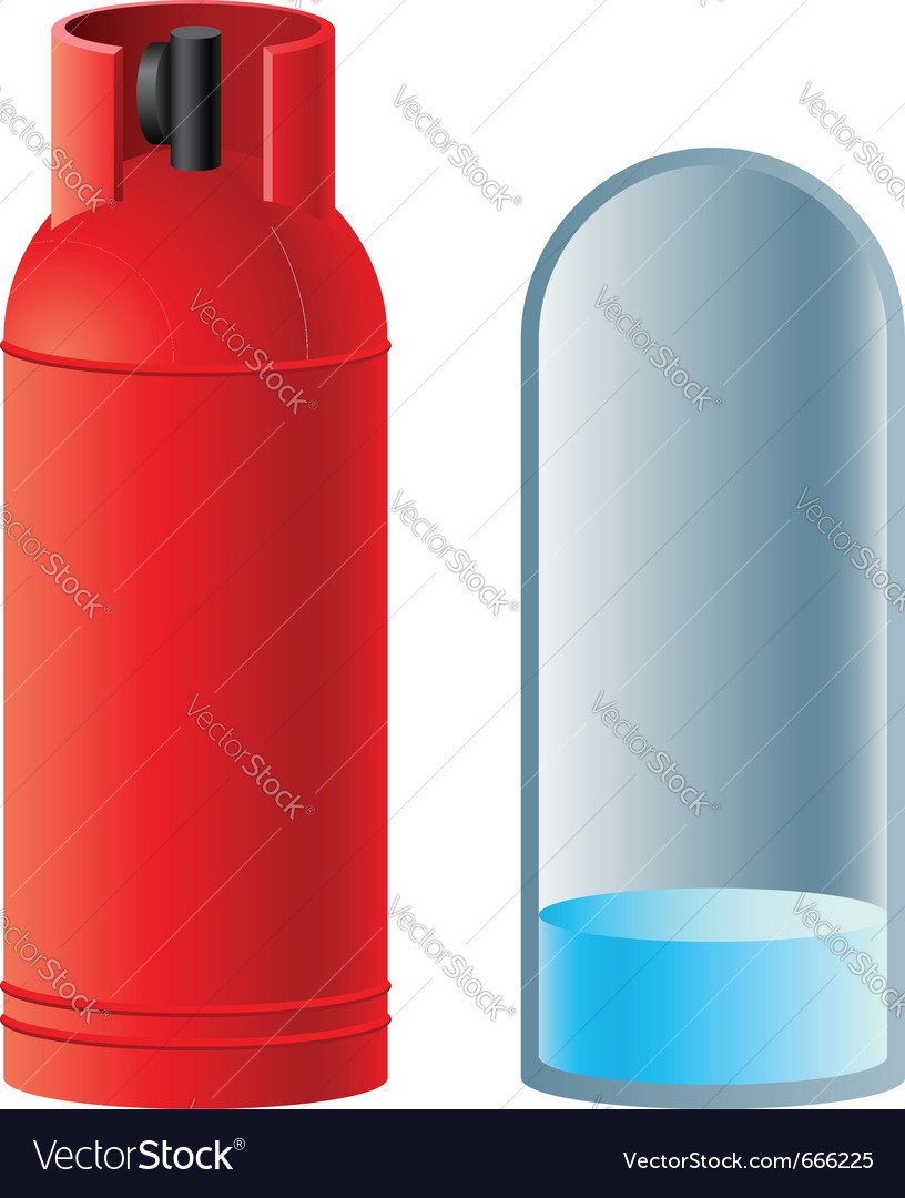 Red butane gas cylinder vector | Price: 1 Credit (USD $1)