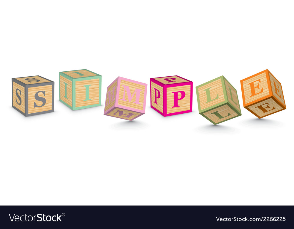 Word simple written with alphabet blocks vector | Price: 1 Credit (USD $1)