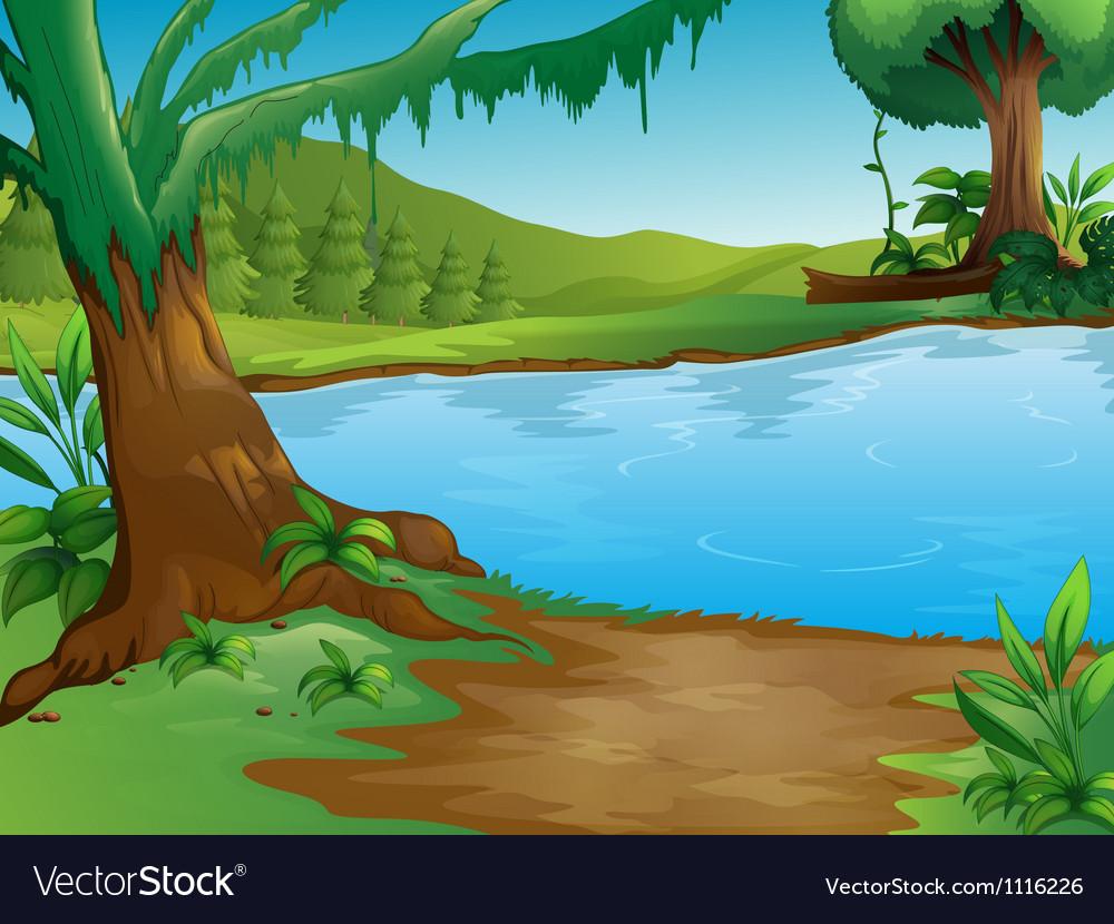 A river vector | Price: 1 Credit (USD $1)