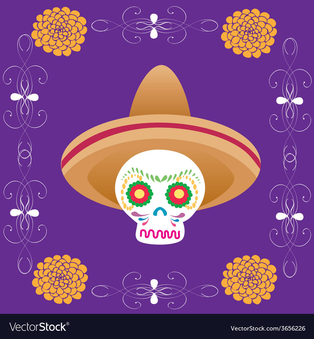 Dia-de-muertos-4 vector | Price: 1 Credit (USD $1)