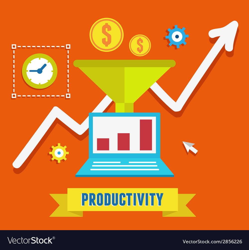 Flat concept of productivity business and growth vector | Price: 1 Credit (USD $1)