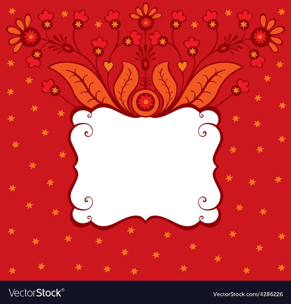 Floral decorative card vector | Price: 1 Credit (USD $1)
