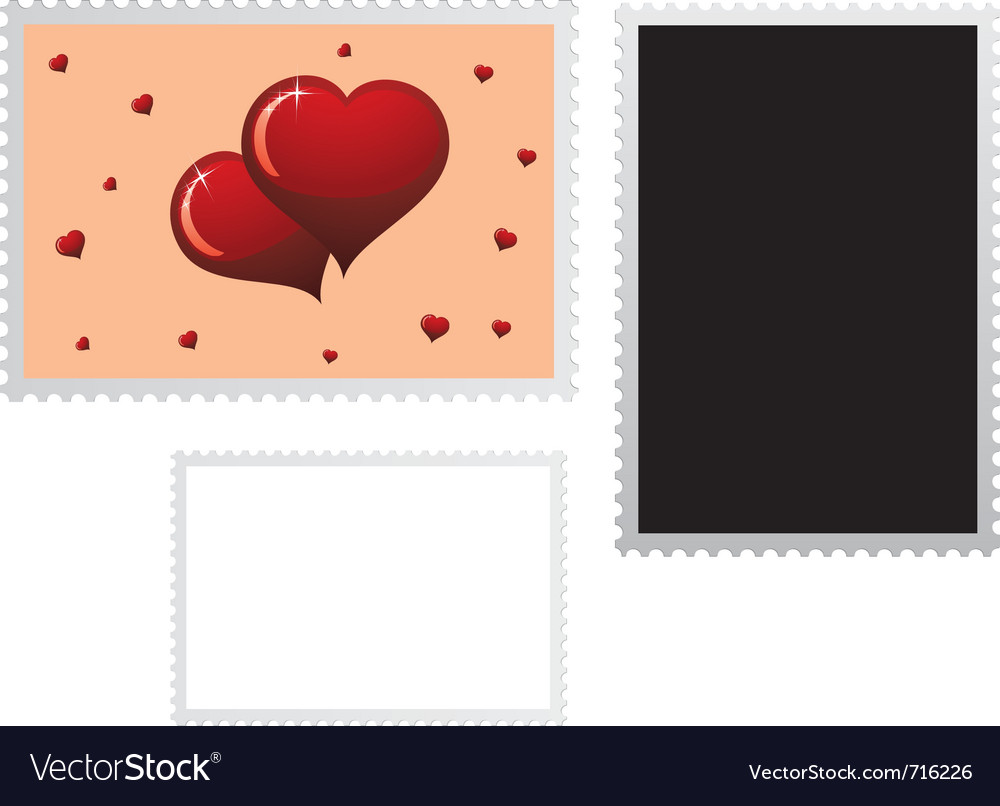 Postage stamp for valentines vector | Price: 1 Credit (USD $1)