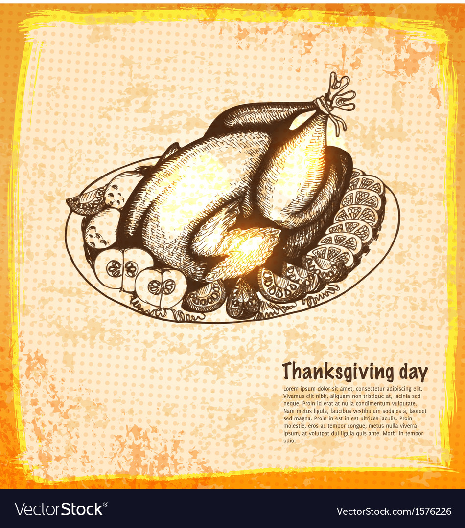 Roast turkey for holiday dinner vector | Price: 1 Credit (USD $1)
