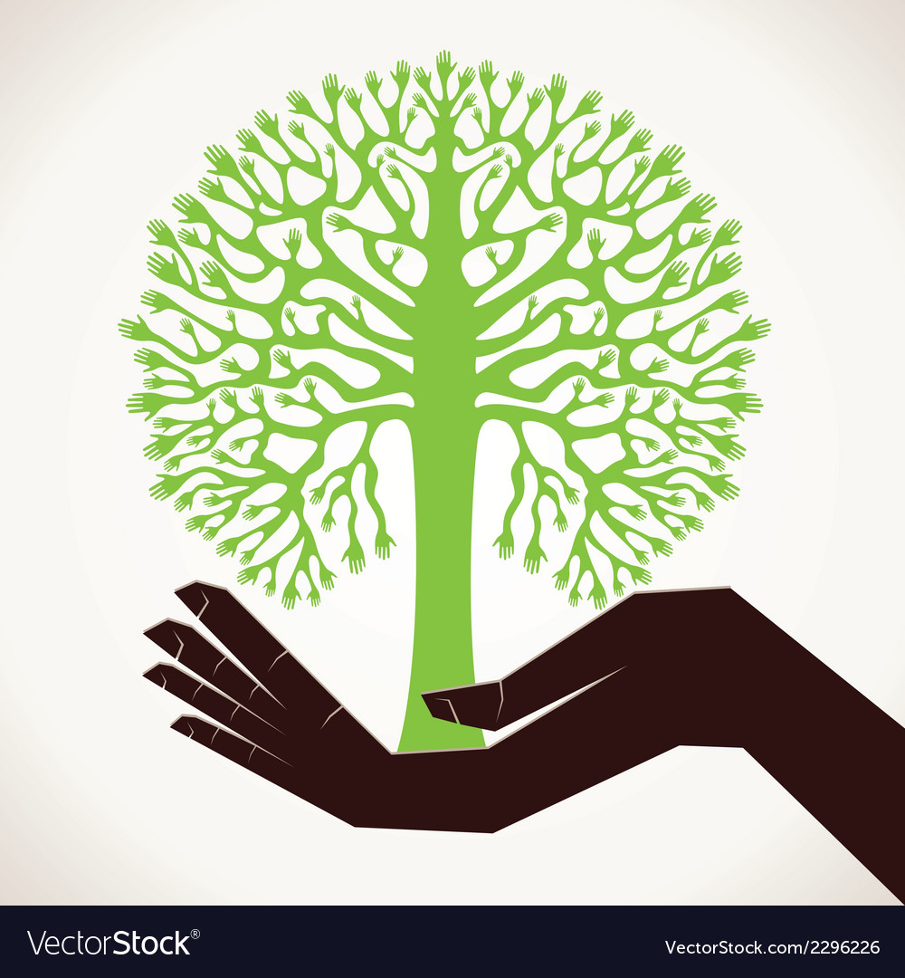 Save tree concept stock vector | Price: 1 Credit (USD $1)