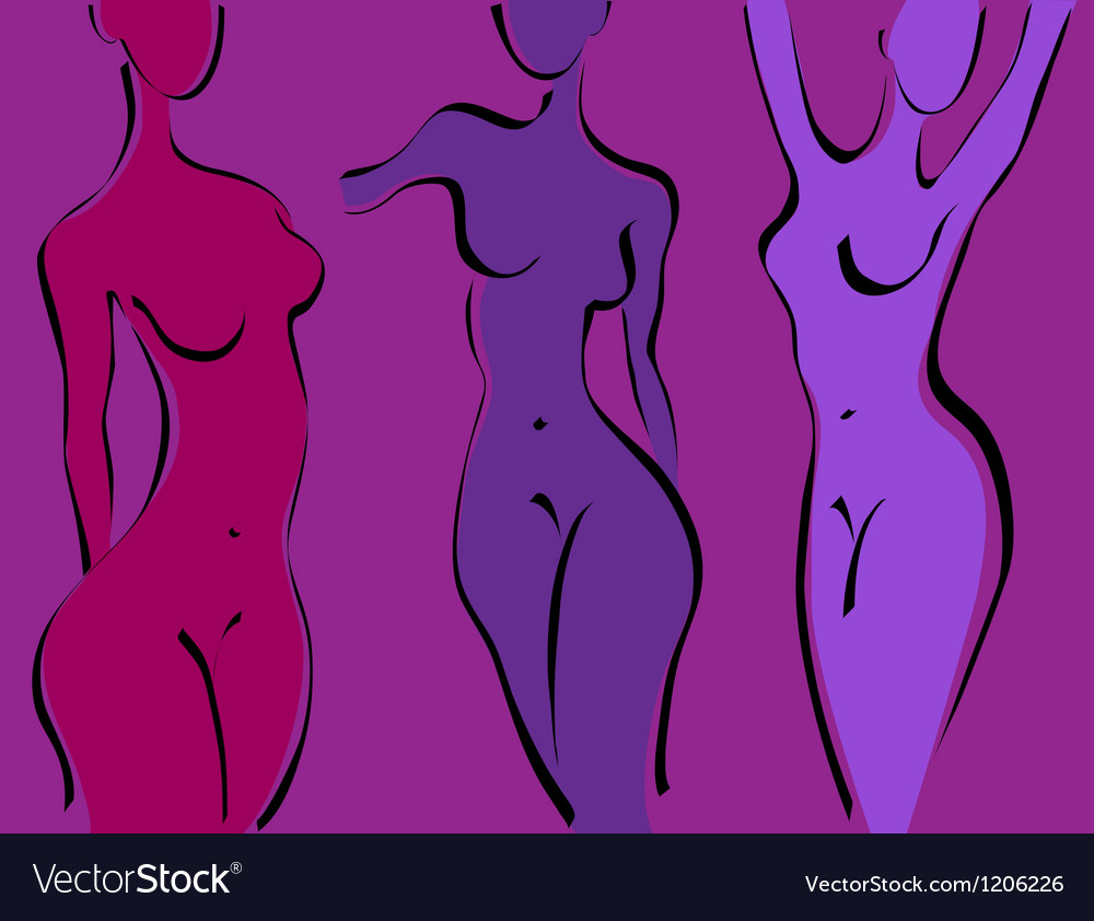 Slim woman body vector | Price: 1 Credit (USD $1)