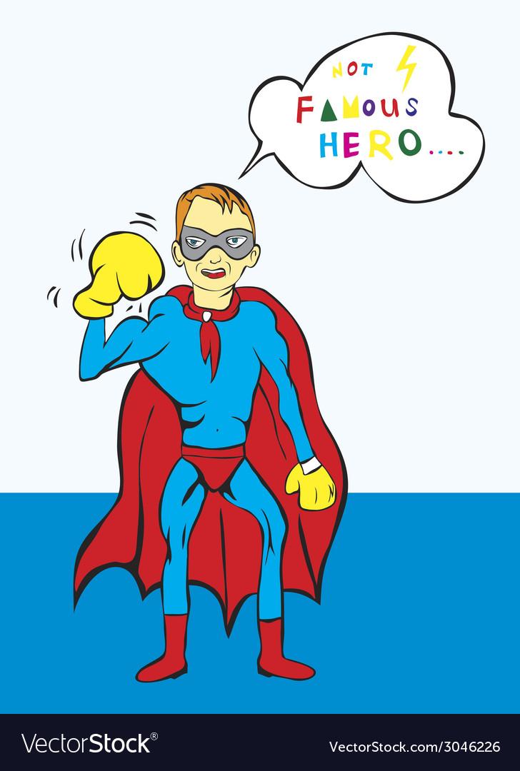 Superhero cartoon vector   Price: 1 Credit (USD $1)