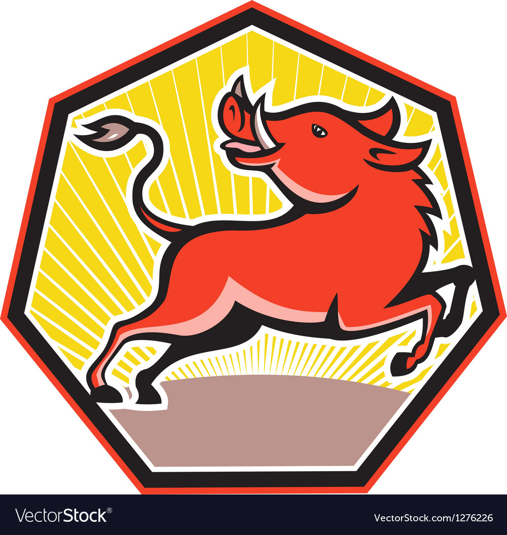 Wild pig razorback hog vector | Price: 1 Credit (USD $1)