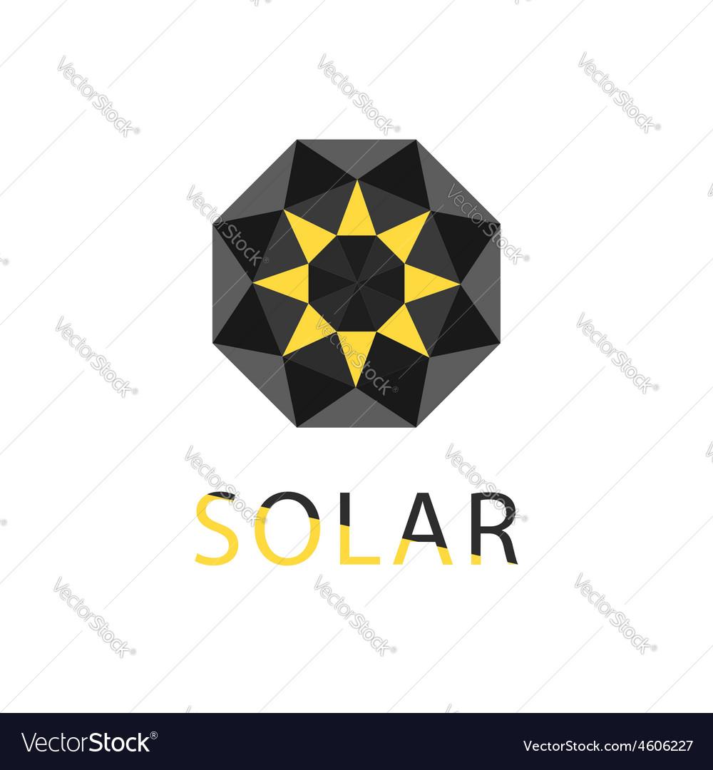 Abstract symbol of sun solar technology logo vector | Price: 1 Credit (USD $1)