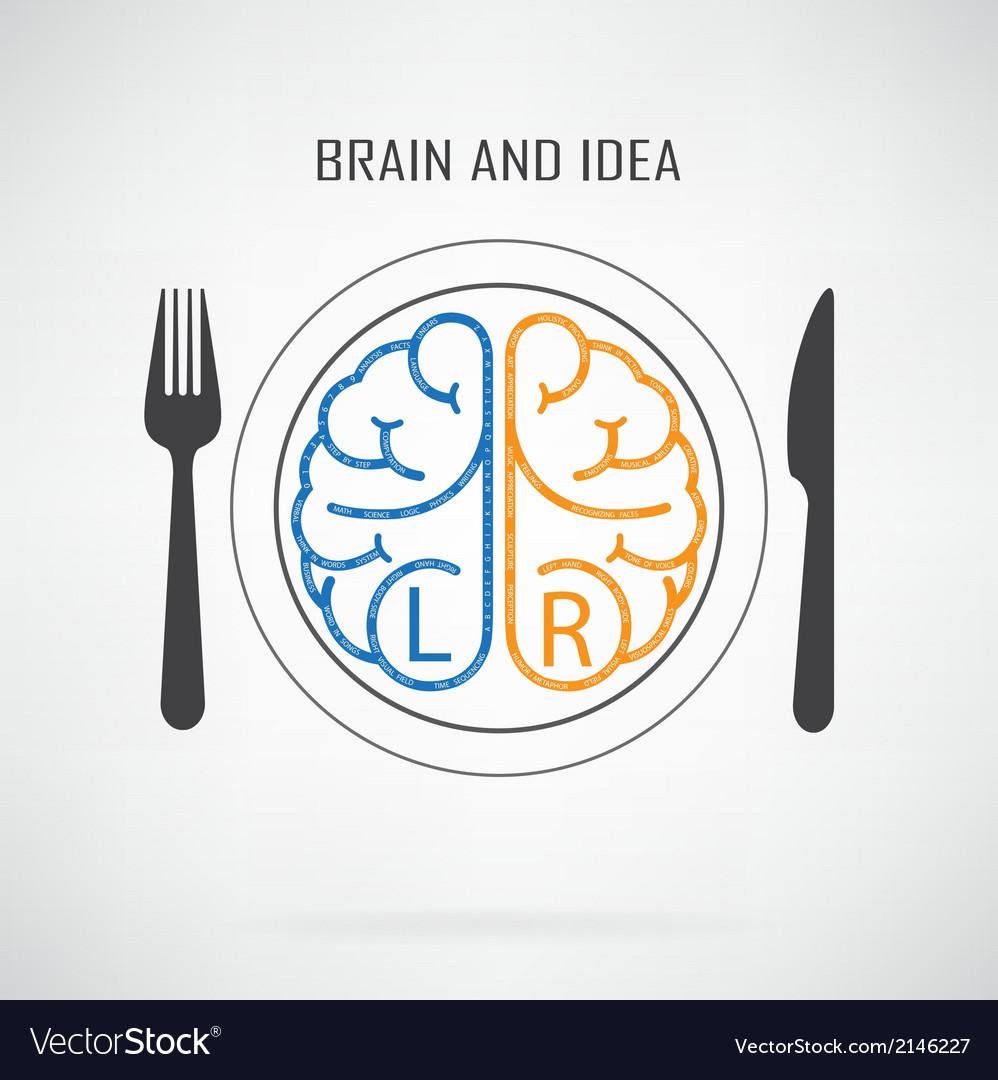 Creative left brain and right brain idea concept vector   Price: 1 Credit (USD $1)