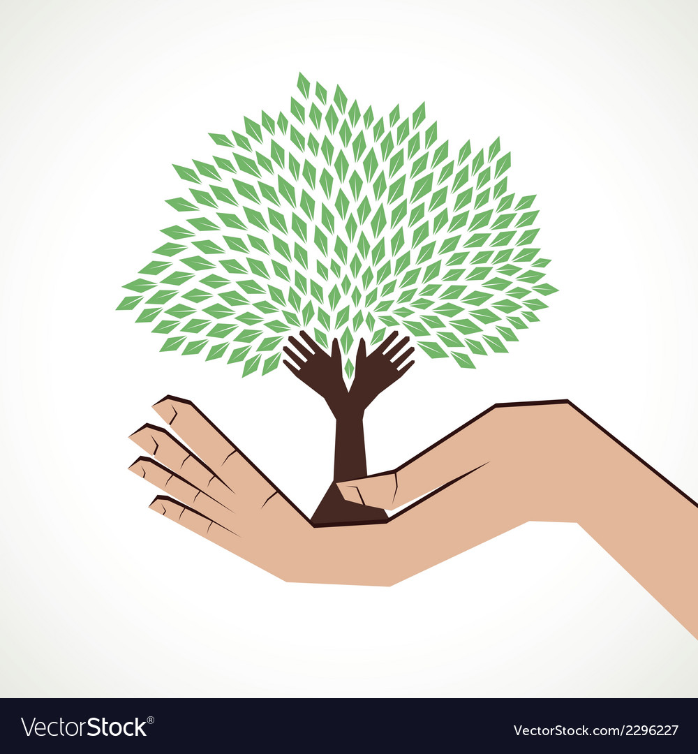 Hand tree in hand stock vector | Price: 1 Credit (USD $1)