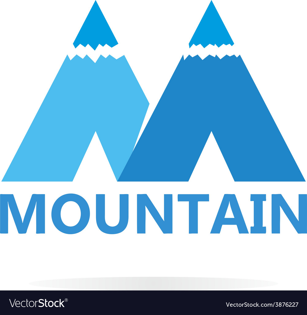 Logo of mountains in style of m vector | Price: 1 Credit (USD $1)