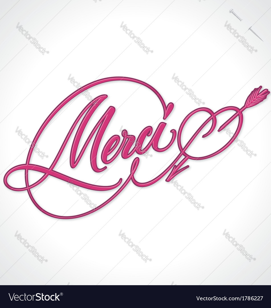 Merci hand lettering vector | Price: 1 Credit (USD $1)