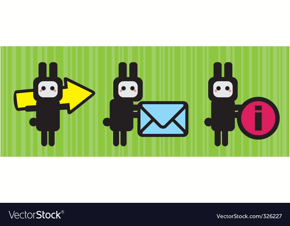 Rabbit icon vector | Price: 1 Credit (USD $1)