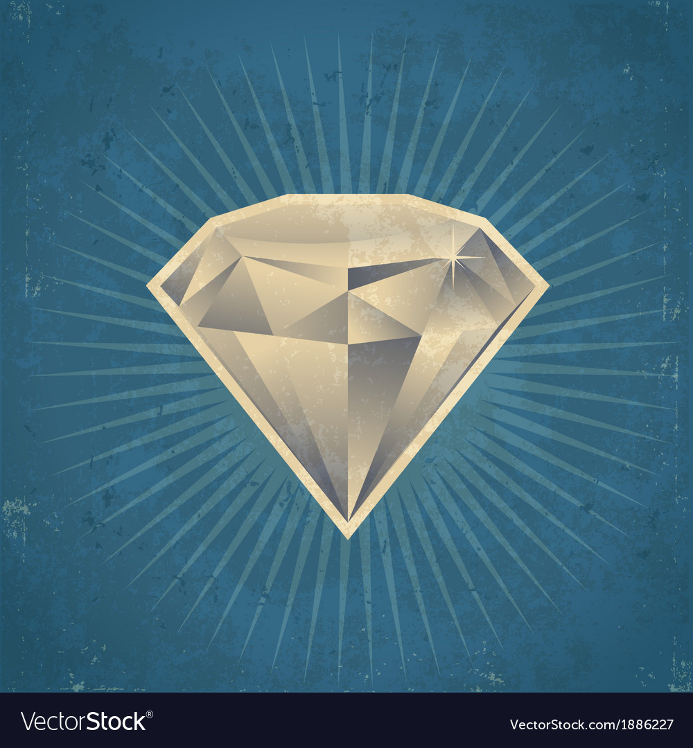 Retro diamond vector | Price: 1 Credit (USD $1)