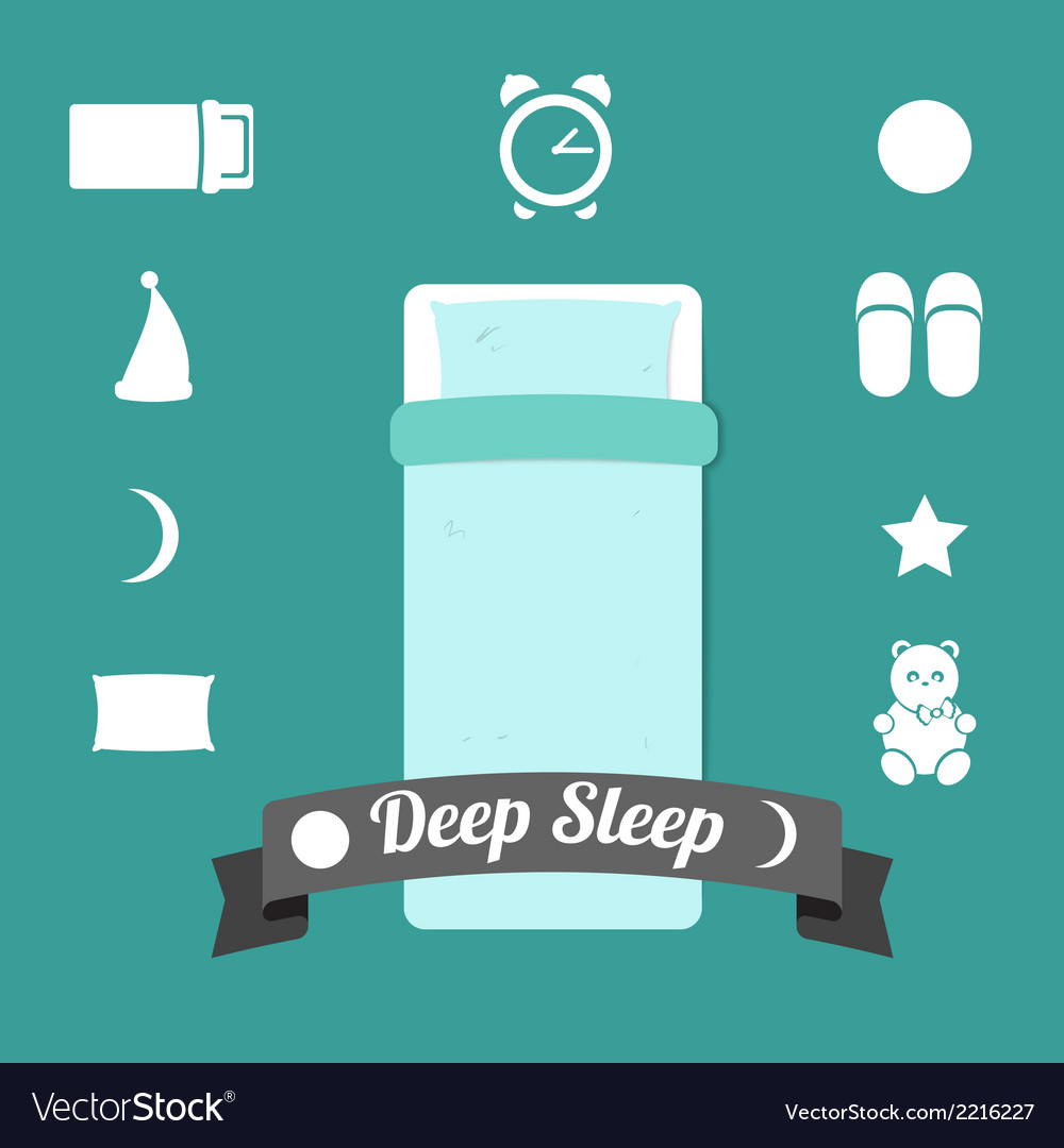 Set of icons on a theme of deep sleep vector | Price: 1 Credit (USD $1)