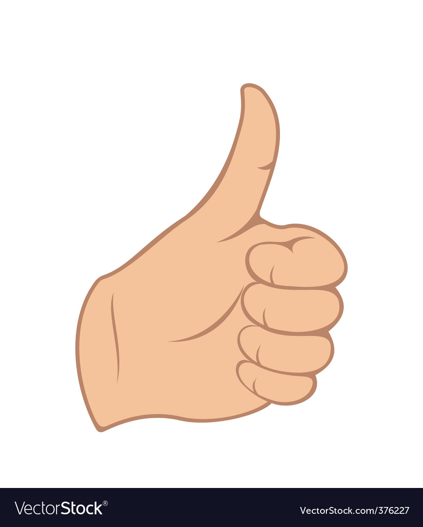 Thumb gesture vector | Price: 1 Credit (USD $1)