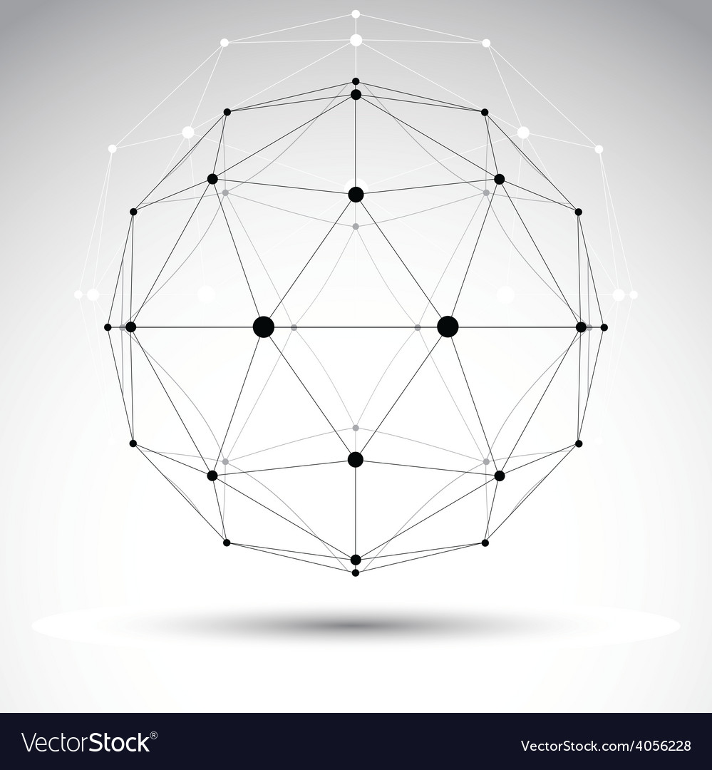 3d polygonal geometric wireframe object abstract vector | Price: 1 Credit (USD $1)