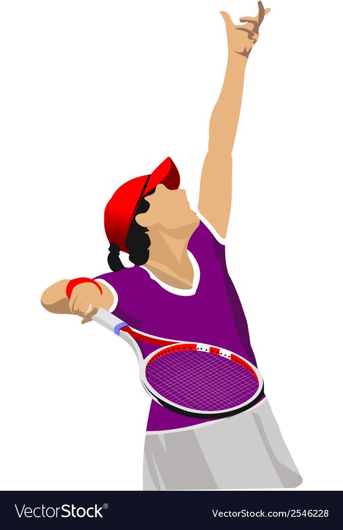 Al 0807 tennis 02 vector | Price: 1 Credit (USD $1)
