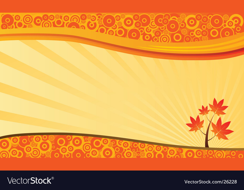 Autumn nature background vector | Price: 1 Credit (USD $1)