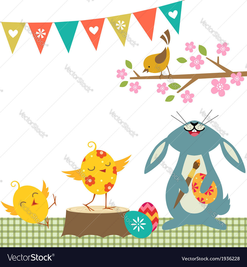 Cheerful easter vector | Price: 1 Credit (USD $1)