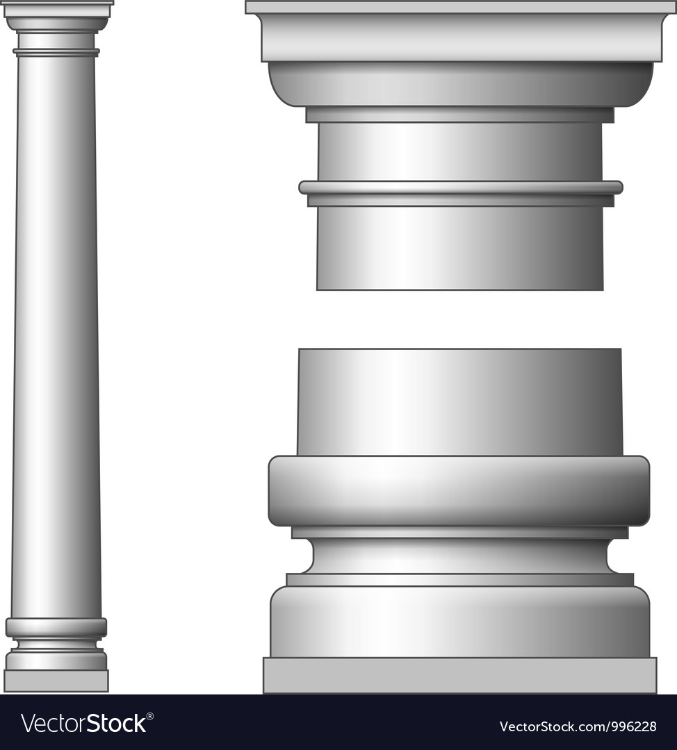 Classic ancient column vector | Price: 1 Credit (USD $1)