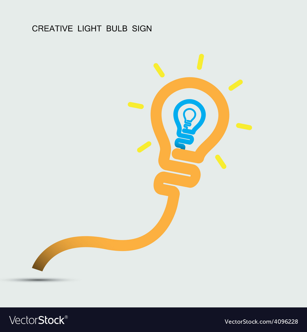Creative light bulb symbol with turn on creativity vector | Price: 1 Credit (USD $1)