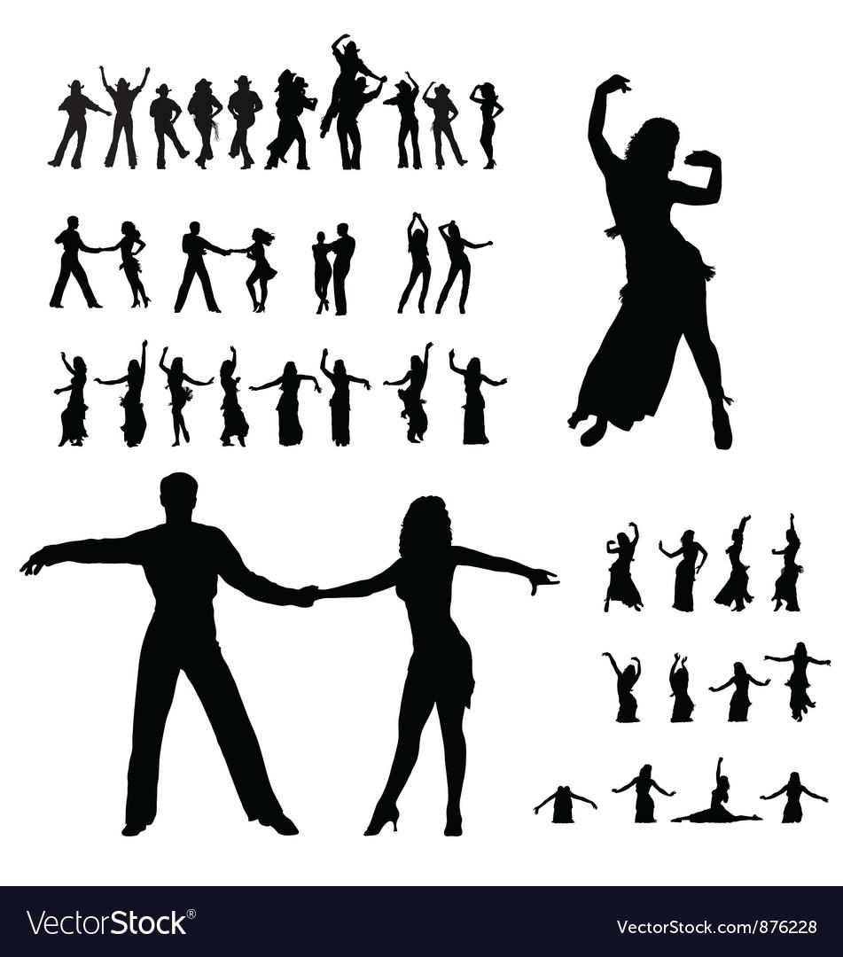 Dancers silhouette vector | Price: 1 Credit (USD $1)
