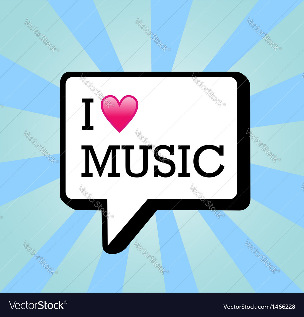 I love music background vector | Price: 1 Credit (USD $1)