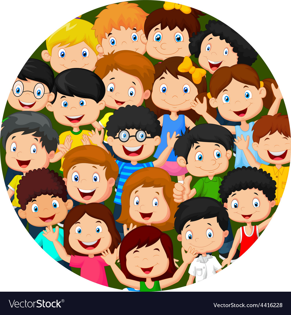 Multicultural children on planet earth vector | Price: 1 Credit (USD $1)