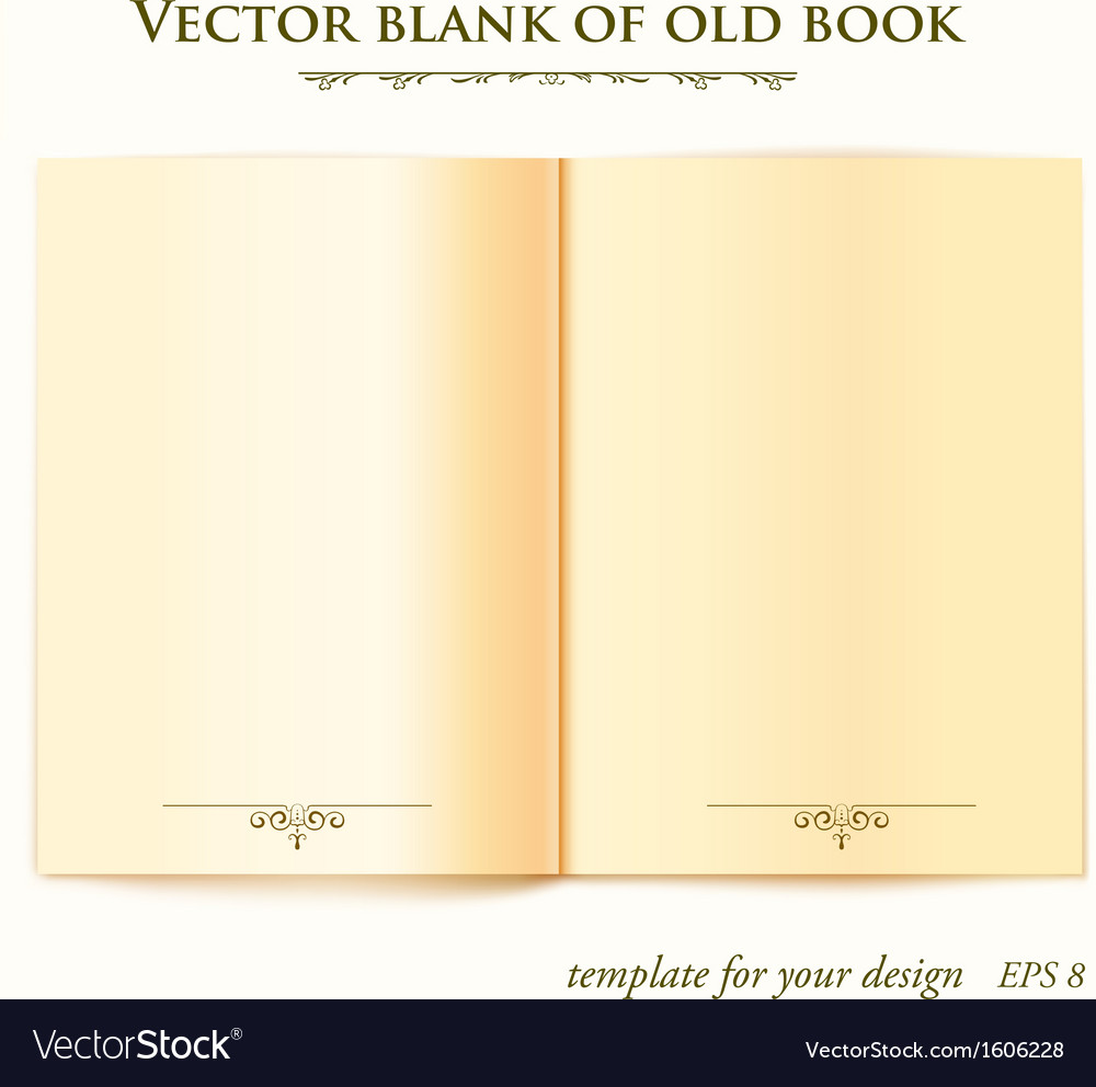 Open old book template for your design vector | Price: 1 Credit (USD $1)