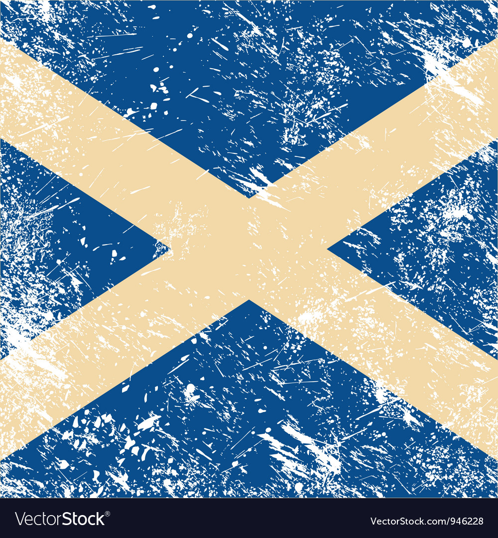 Scotland retro flag vector | Price: 1 Credit (USD $1)