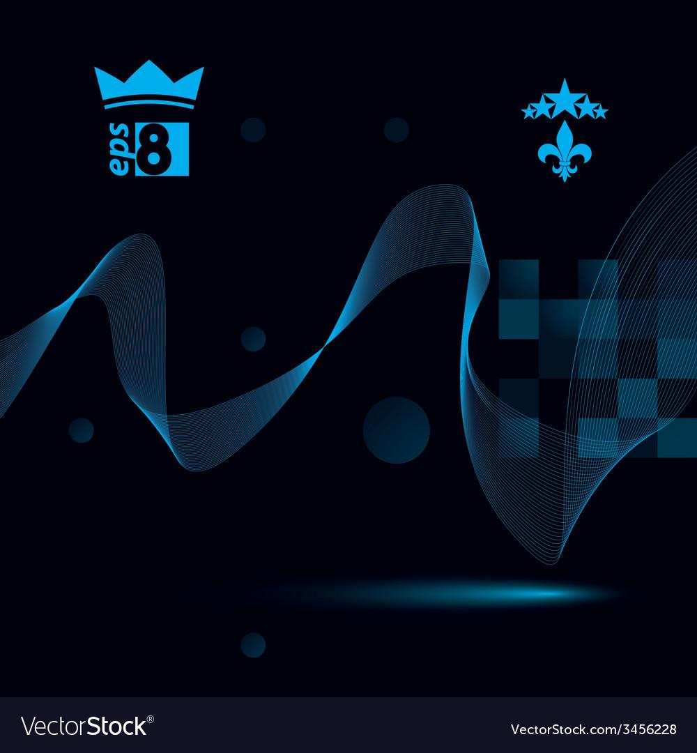 Slender 3d textile motif background curved stripy vector | Price: 1 Credit (USD $1)